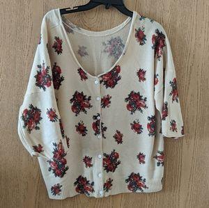 Vintage Japanese granny sweater cardigan カラバサ
